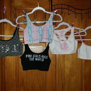 5 Victoria secrets pink sports bras